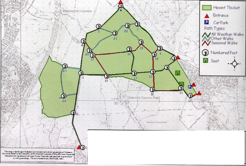 Map of Havant thicket